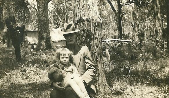 WK and grandaughter abt 1936